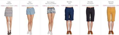 shorts faldas bermudas