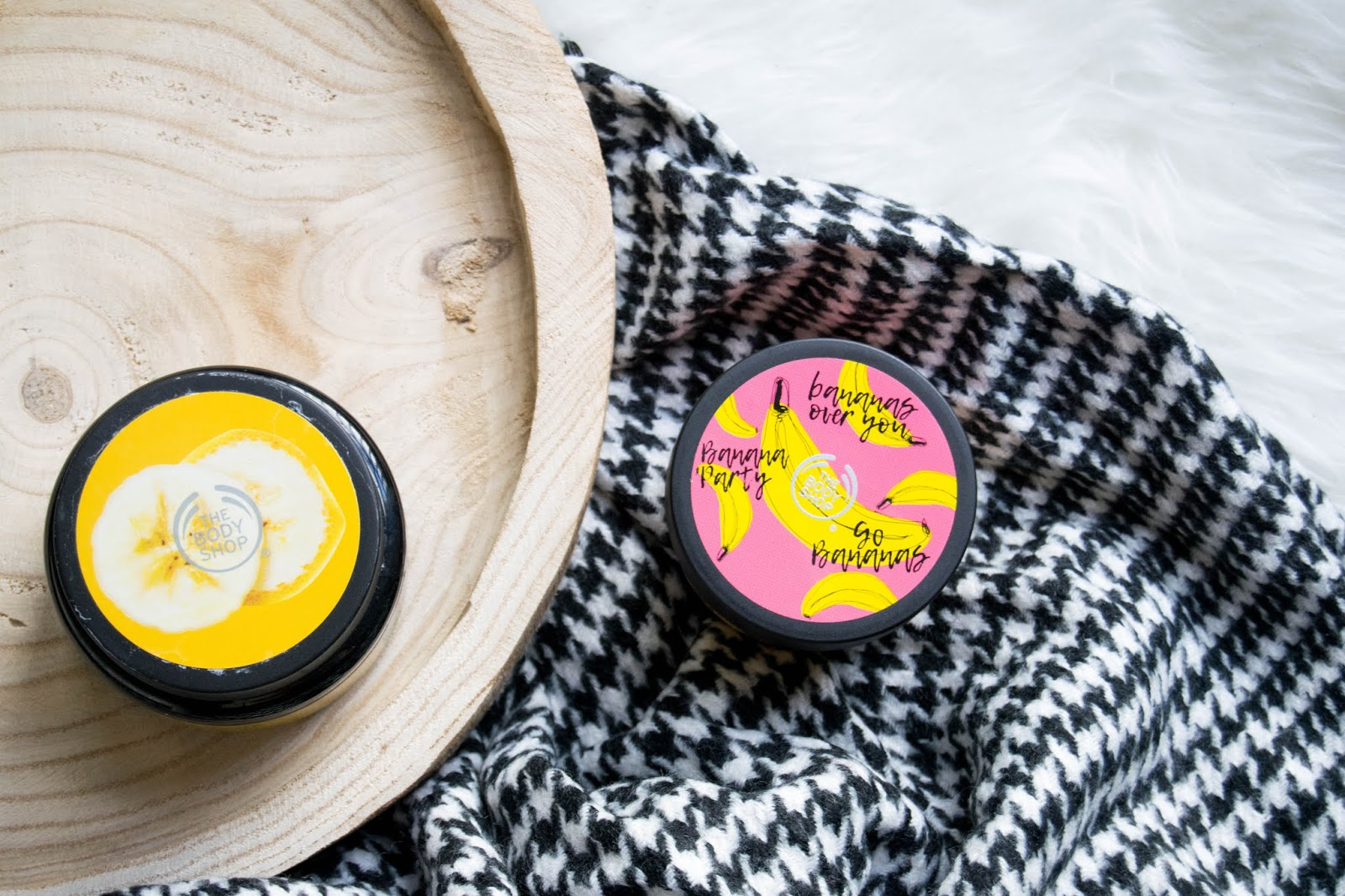 The Body Shop Banana Hair Mask & The Body Shop Banana Body Yogurt