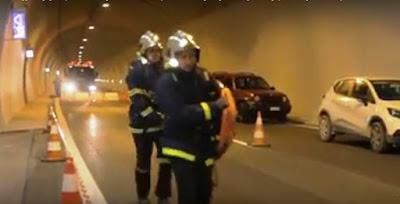 ΕΓΝΑΤΙΑ- Φωτιά σε οχημα πριν το τούνελ στο Βασιλικό Θεσπρωτίας
