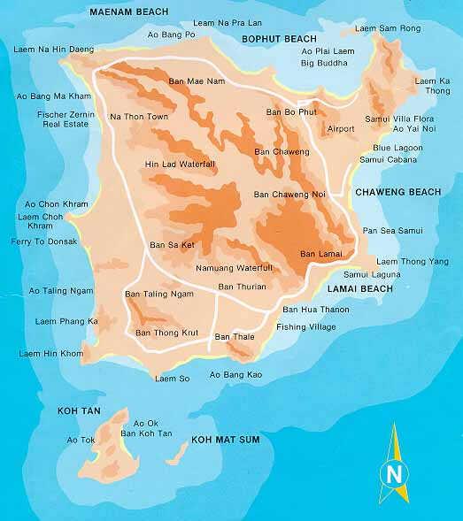 Koh Samui Karte