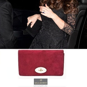 Kate Middleton wore MULBERRY Bayswater clutch and ANNOUSHKA Pearls Earrings