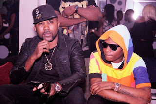 Wizkid and Banky W during his upcoming years