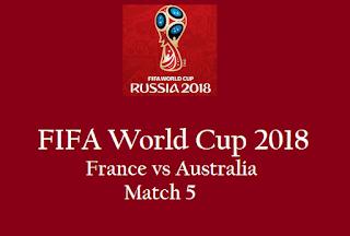 Live Stream telecast France vs Australia