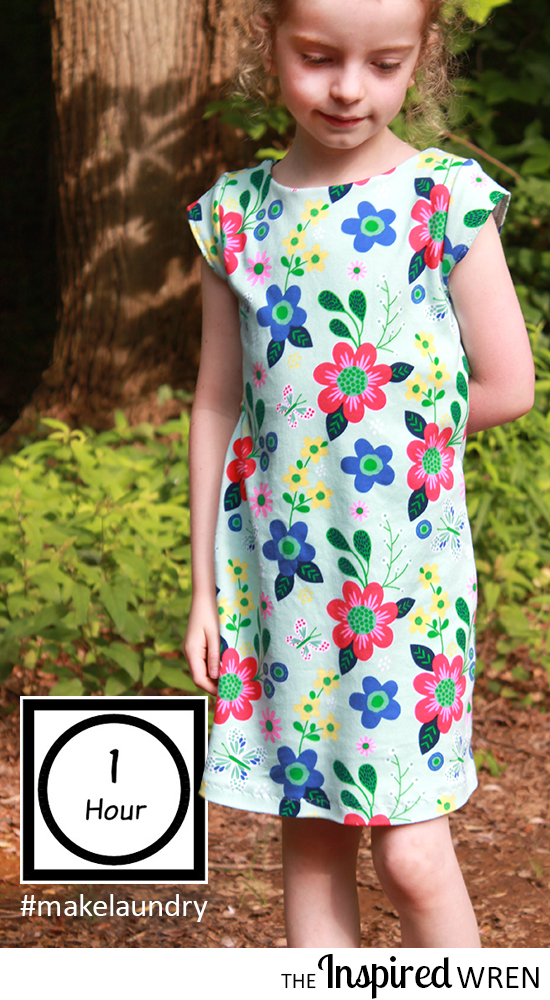 Love this quick sew! Anywhere Dress from Go To Patterns | The Inspired Wren for the Make Laundry, Don't Do Laundry 2016 Tour