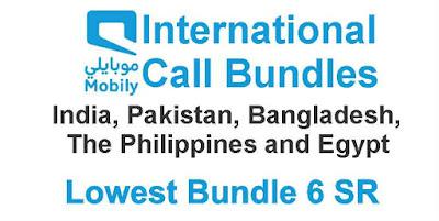Mobily International Call Bundles