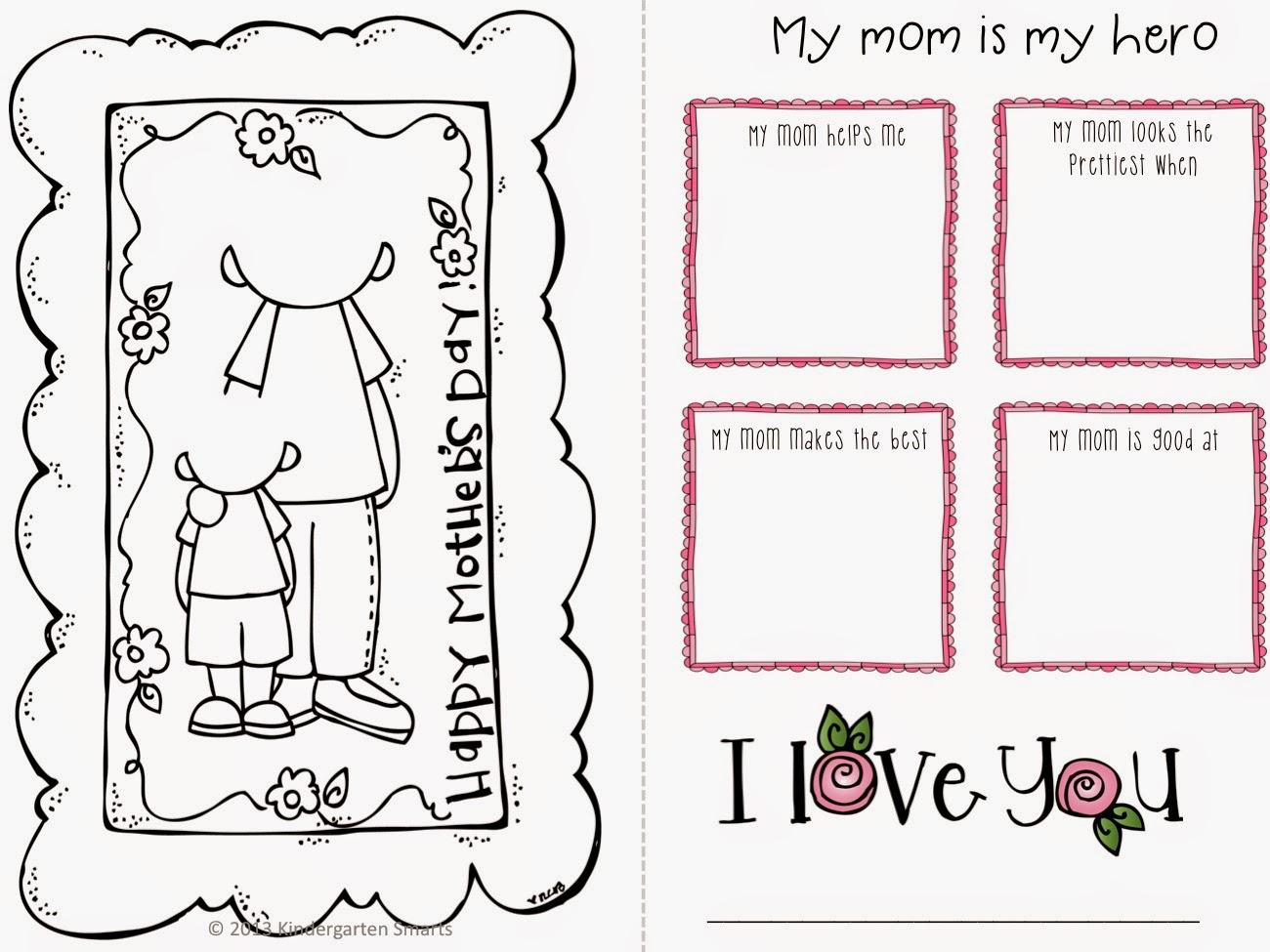 Kickin It In Kindergarten Mothers Day Freebie