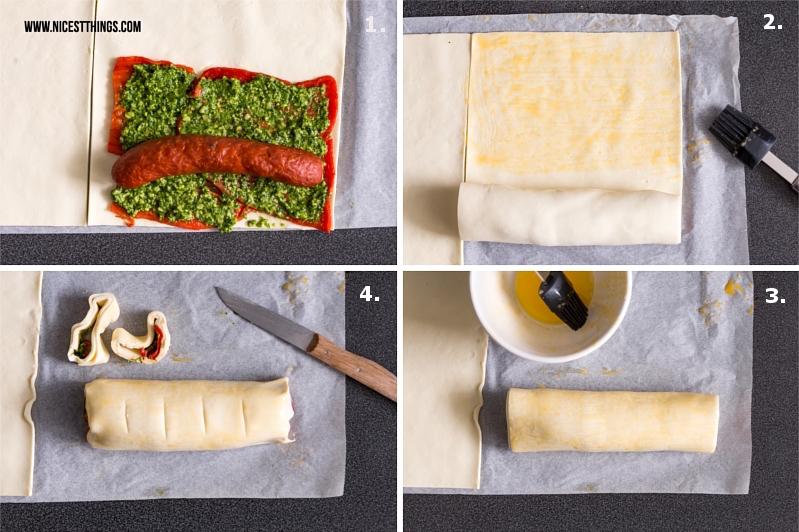 Kabanos Snack Rezept Wurst im Teigmantel