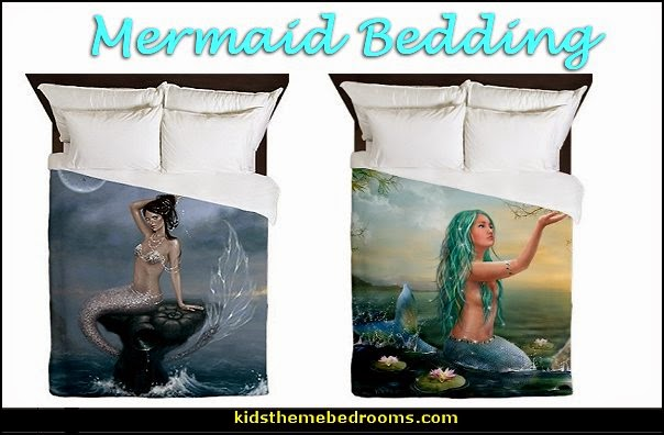 underwater bedroom ideas - under the sea theme bedrooms - mermaid theme bedrooms - sea life bedrooms - Little mermaid princess Ariel - Sponge Bob theme bedrooms - mermaid bedding - Disney's little mermaid - clamshell bed - mermaid murals - mermaid wall decal stickers -