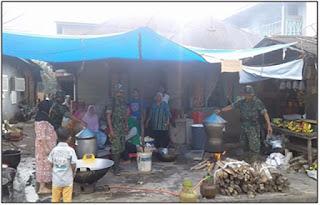 Yuk Intip Kondisi Dapur Umum Kodim 0212/TS Di Lokasi Pengungsian Padang Sidempuan