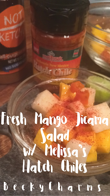 Fresh Mango Jicama Salad with Melissa's Hatch Chiles by BeckyCharms
