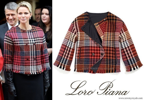 Princess Charlene wore Loro Piana cashmere jacket