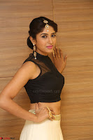 Roshni Prakash in a Sleeveless Crop Top and Long Cream Ethnic Skirt 034.JPG