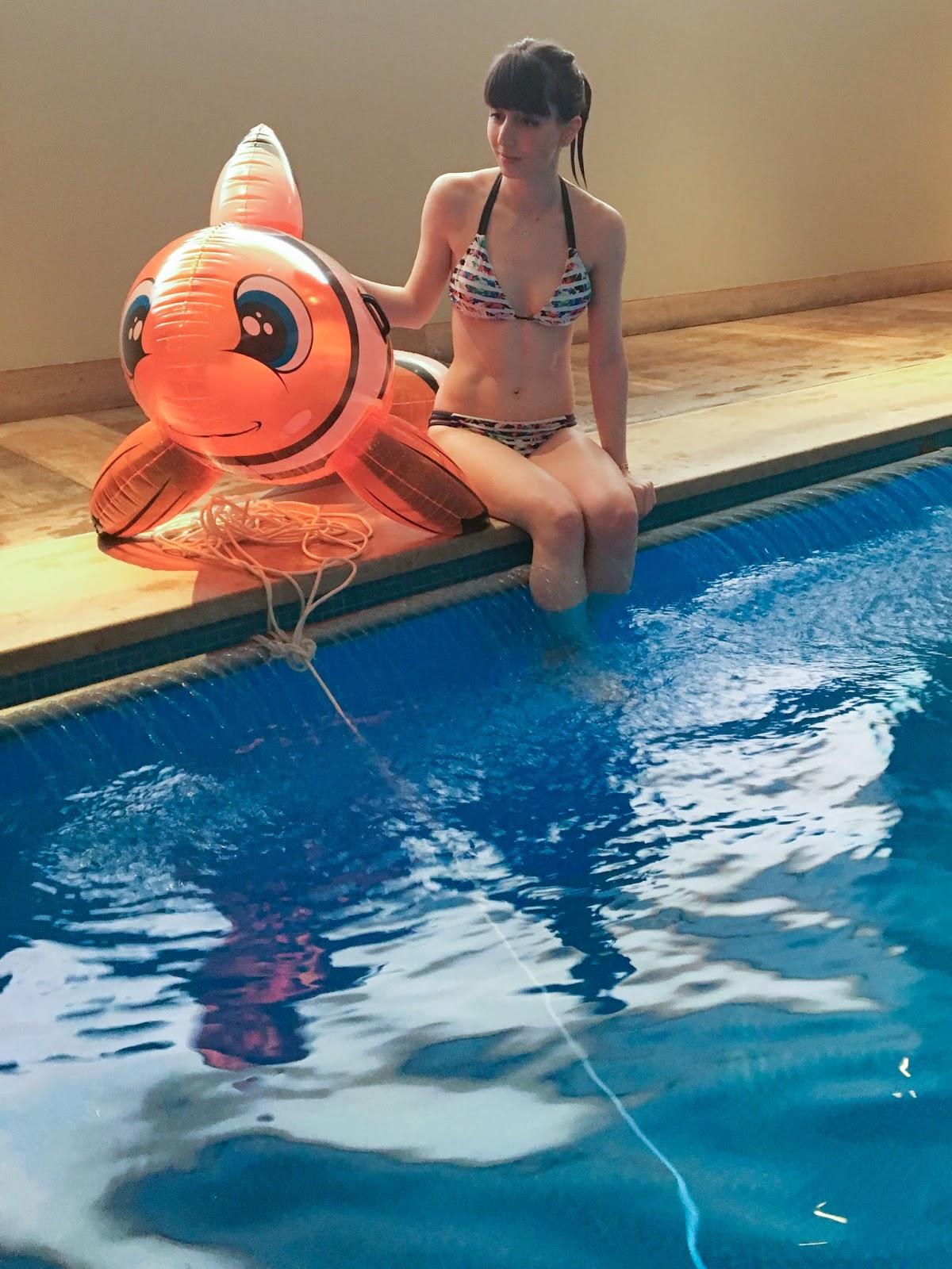 Hello Freckles Swimwear365 Bikini Aquafit London Haymarket Hotel Fitness Class