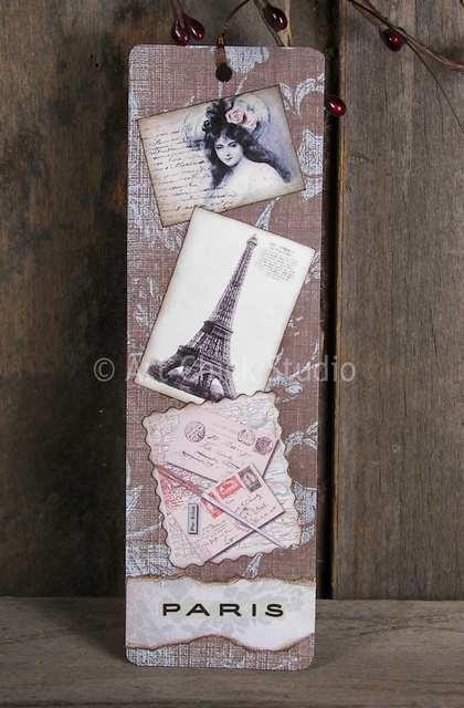 Paris Altered Art Bookmark