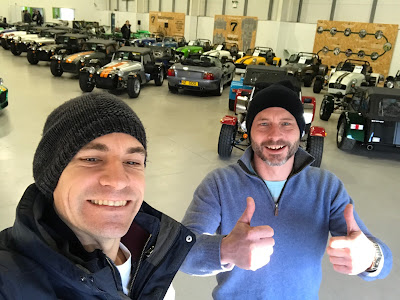 (l to r) Myself and Andy Morgan at the Caterham South Showroom at the start of our Academy adventure!