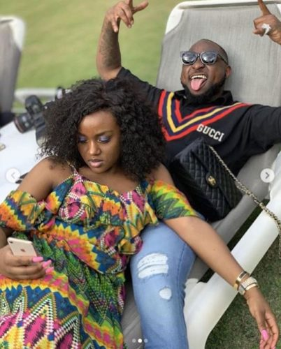 Davido Caught Pants Down While Trying To Kiss Chioma (Video)