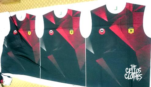 Jersey Printing V - O Neck Berkerah Untuk Tim Bola, Futsal & Komunitas