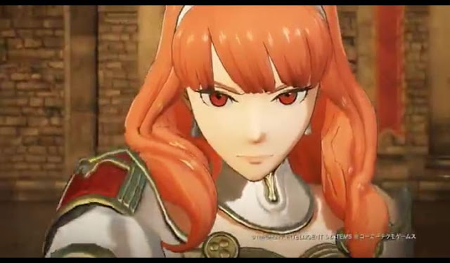 Fourth Screenshot from Fire Emblem Heroes Trailer- Cecilia intro.