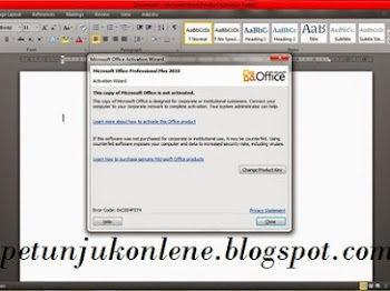 Cara Mematikan Notifikasi Product Activation Failed pada Microsoft Office
