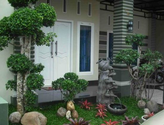 Taman Rumah Sederhana untuk teras depan rumah