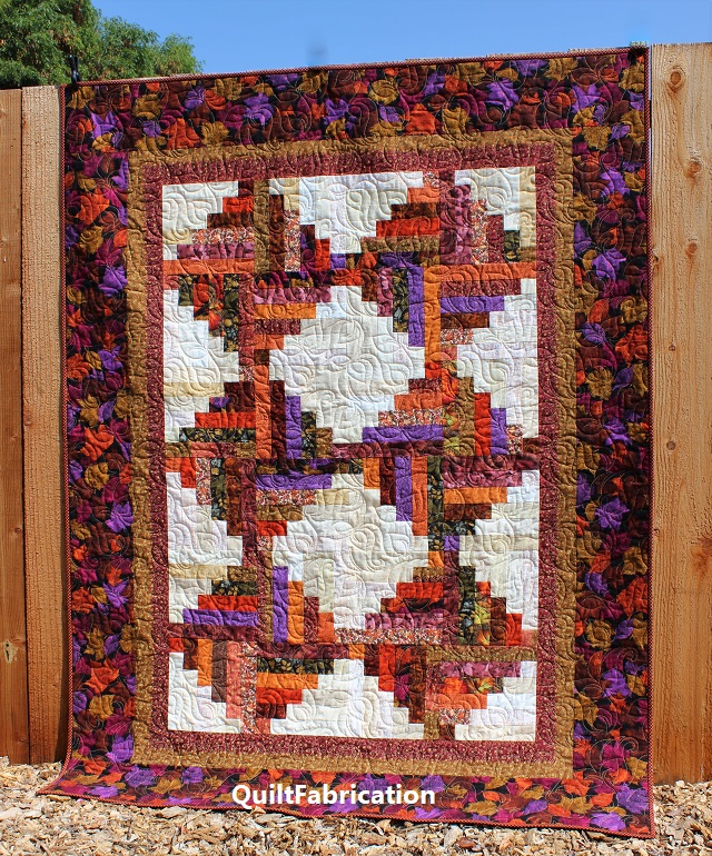Leaf Piles Quilt full view