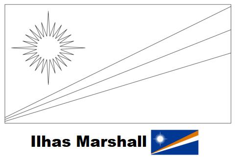 Blog De Geografia Bandeira Das Ilhas Marshall Para Colorir