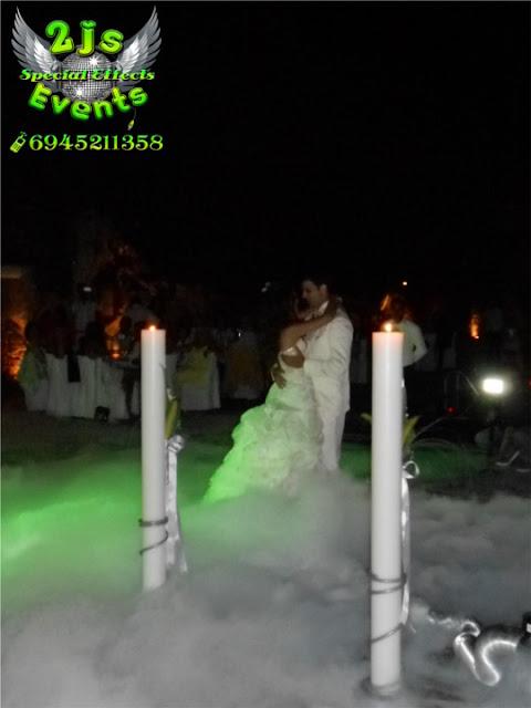 ΓΑΜΟΣ ΣΥΡΟΣ ΣΥΝΤΡΙΒΑΝΙΑ ΦΩΤΙΑΣ ΠΥΡΟΦΛΑΣ ΞΗΡΟΣ ΠΑΓΟΣ DRY ICE SYROS2JS EVENTS