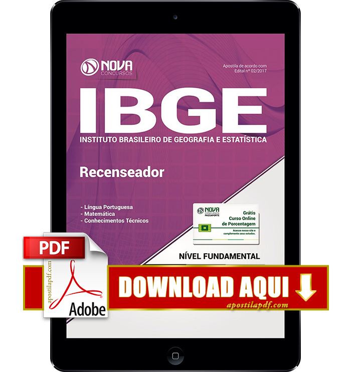 Apostila IBGE 2017 PDF Download Digital Recenseador