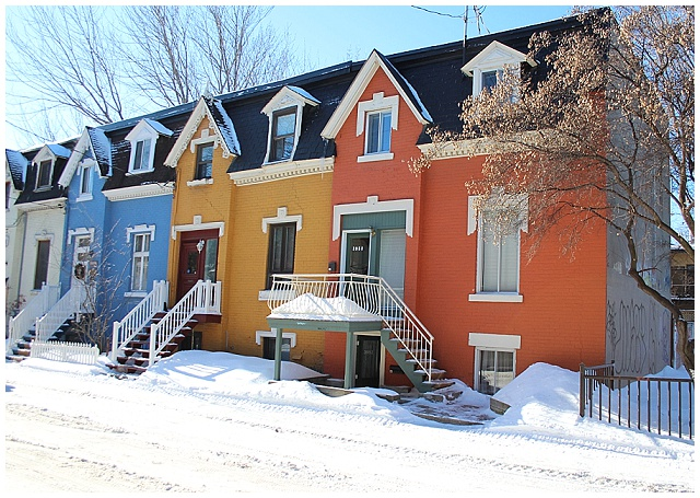 Beautiful houses on Montreal