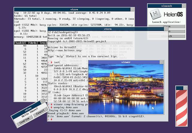 Mais novidades sobre o HelenOS (com o novo Display Server)