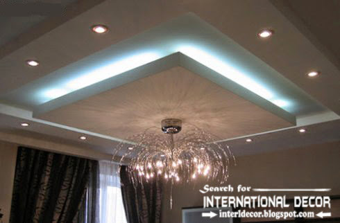 LED ceiling lights, LED strip lighting ideas in the interior