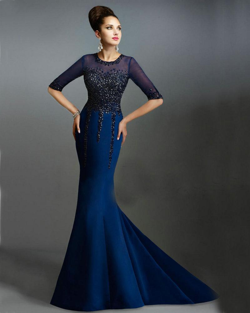 Vestidos de noche en azul rey