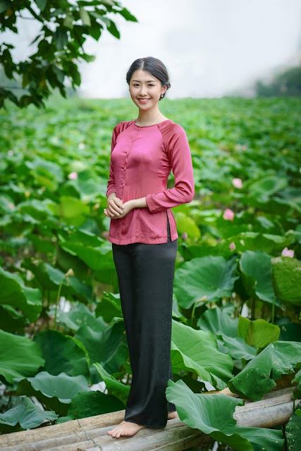 udic-Pink lotus flowers in West Lake blossom against blue background of sky