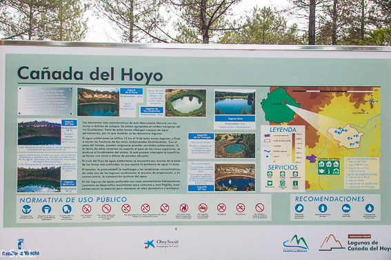 Cartel lagunas de cañada del Hoyo. Cuenca