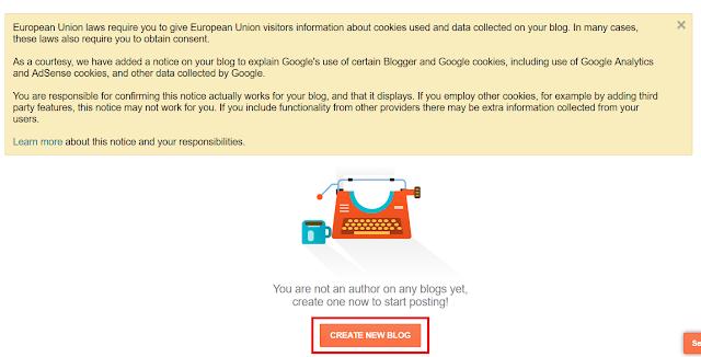 Halaman Depan Blogger untuk Buat Blog