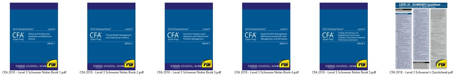 2018 Cfa Level 1 Schweser Study Notes Book Pdf {Nhs Alumni}