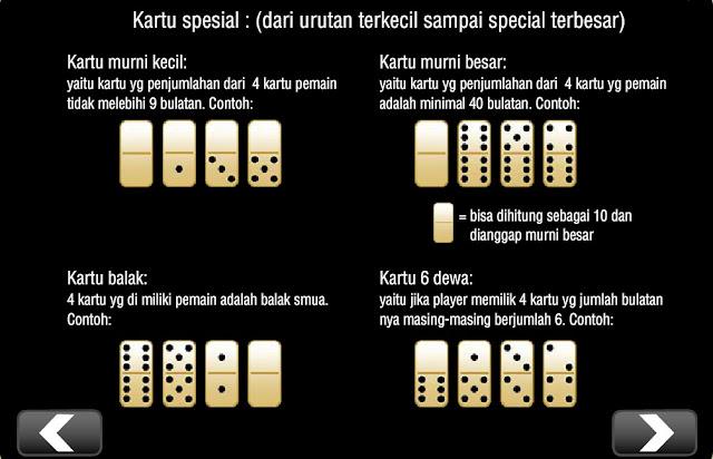 Kartu Special Domino99