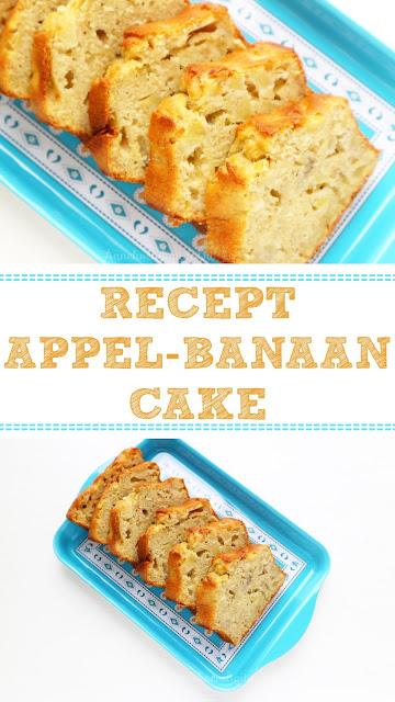 recept appel banaan cake bakken, cake bakken, recept cake bakken, cake met minder suiker, makkelijk recept cake, recept cake met baan, bento cake, banaan in cake, de lekkerste cake recepten