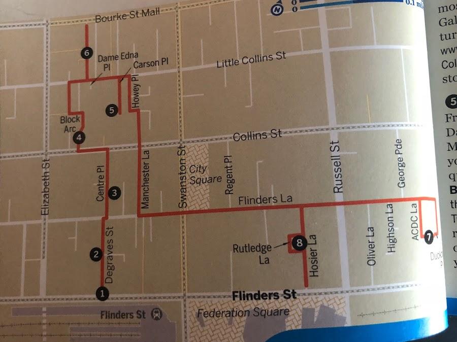 melbourne arcades map