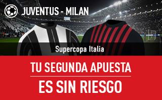 sportium Juventus vs Milan segunda apuesta sin riesgo 23 diciembre