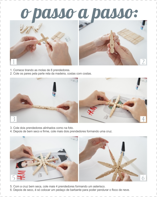 penduricalho de floco de neve - DIY de Natal - The Blue Post