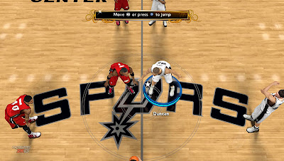 NBA 2K13 San Antonio Spurs Court Patch