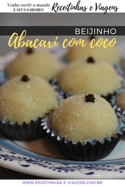 beijinho de abacaxi com coco