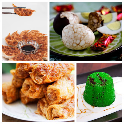 chinese new year recipe roundup sago pudding pandan potstickers jiao zi lor bak tea eggs