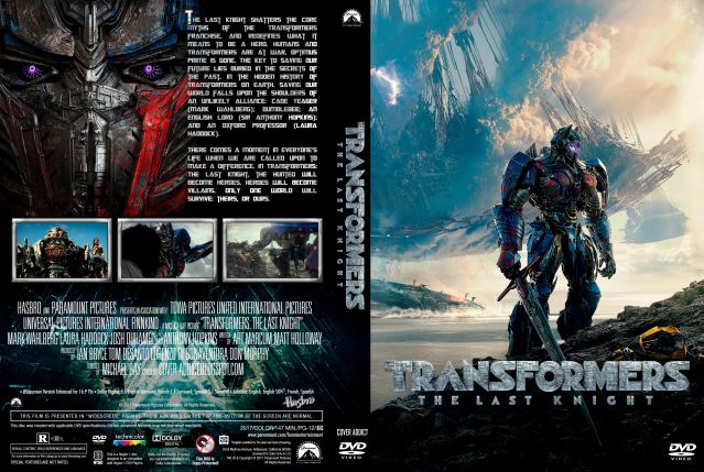 Capa DVD Transformers The Last Knight [Cover-Addict]