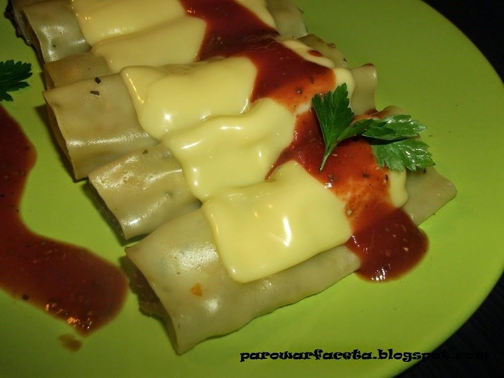 Cannelloni z mięsem mielonym na parze