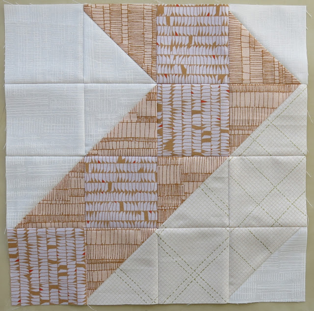HST block #9 - Diagonal - Carolyn Friedlander's fabric collections