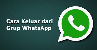 Cara Keluar dari Grup Whatsapp tanpa diketahui Teman