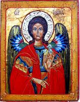Sfantul Arhanghel Gavriil, icoana pe lemn