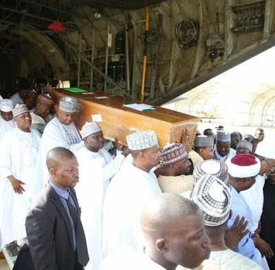 Saraki, Gov Ganduje, others carry Maitama Sule's coffin on their shoulders (PHOTOS)